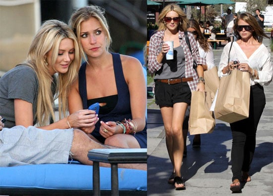 Photos of Kristin Cavallari, Lo Bosworth, Stephanie Pratt Filming The Hills at the Beach and Shopping in LA