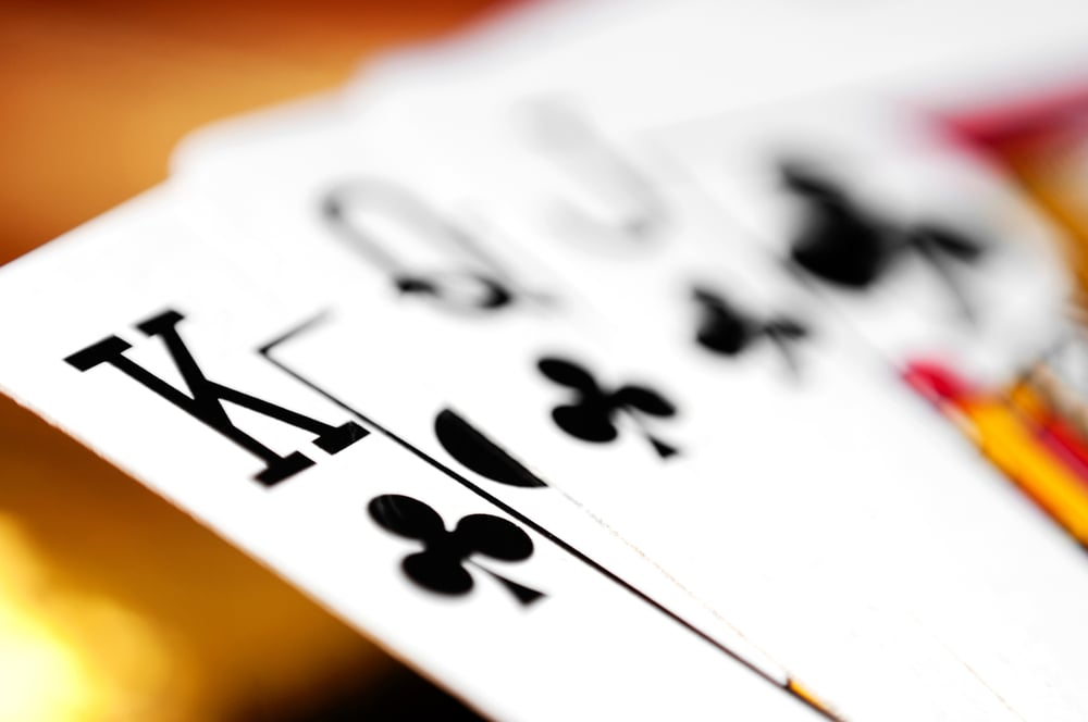 A very simple and easy workout that I have my clients do if they are on the road, or even the clients who don't want to go to a gym, is the deck of cards workout. There is four different suits in a deck — spades, diamonds, hearts, clubs — and each of those suits has a card ranging from one to 10. The face cards — king, queen and joker — are worth 10 reps, and the ace is worth 11 reps.