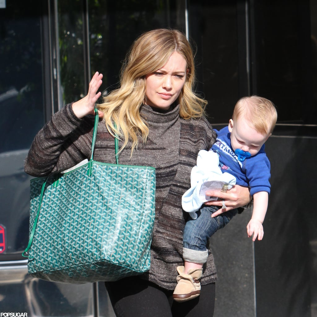 Hilary Duff had little Luca Comrie with her for errands in LA.
