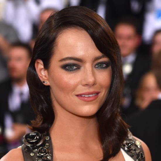 Emma Stone Is Brunette at the Met Gala 2016
