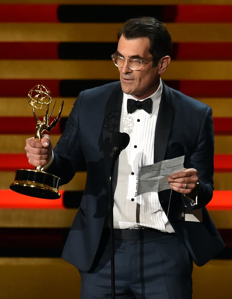 Ty Burrell read a speech written by his young costars.