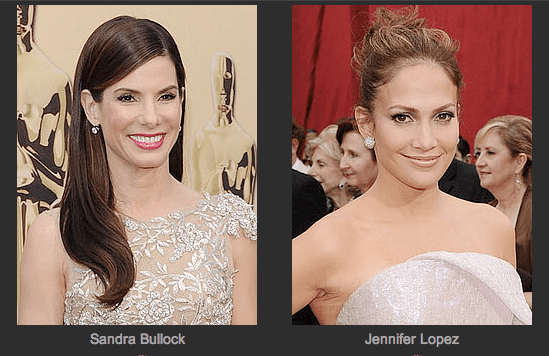 Who Was Sexiest at the Oscars — Sandra Bullock or Jennifer Lopez? Play Our Brand-New Oscars Faceoff Game!