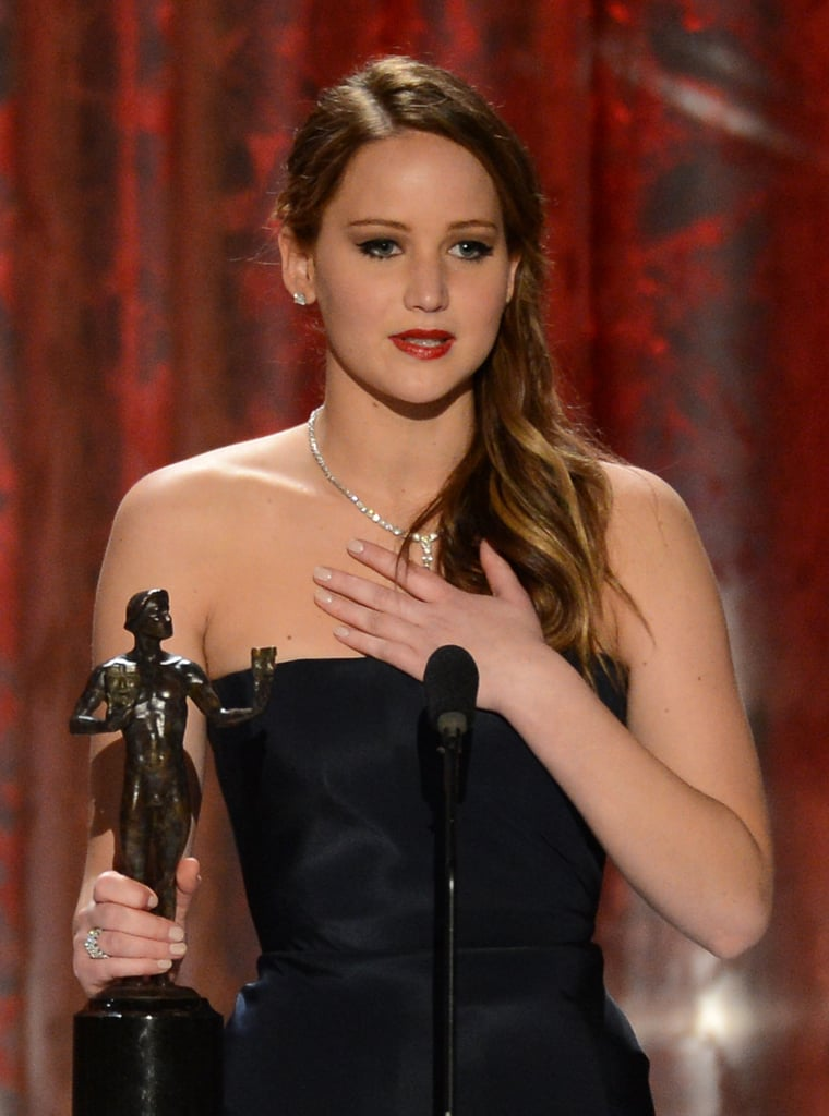 Jennifer Lawrence gave a memorable speech at the 2013 Screen Actors Guild Awards.
