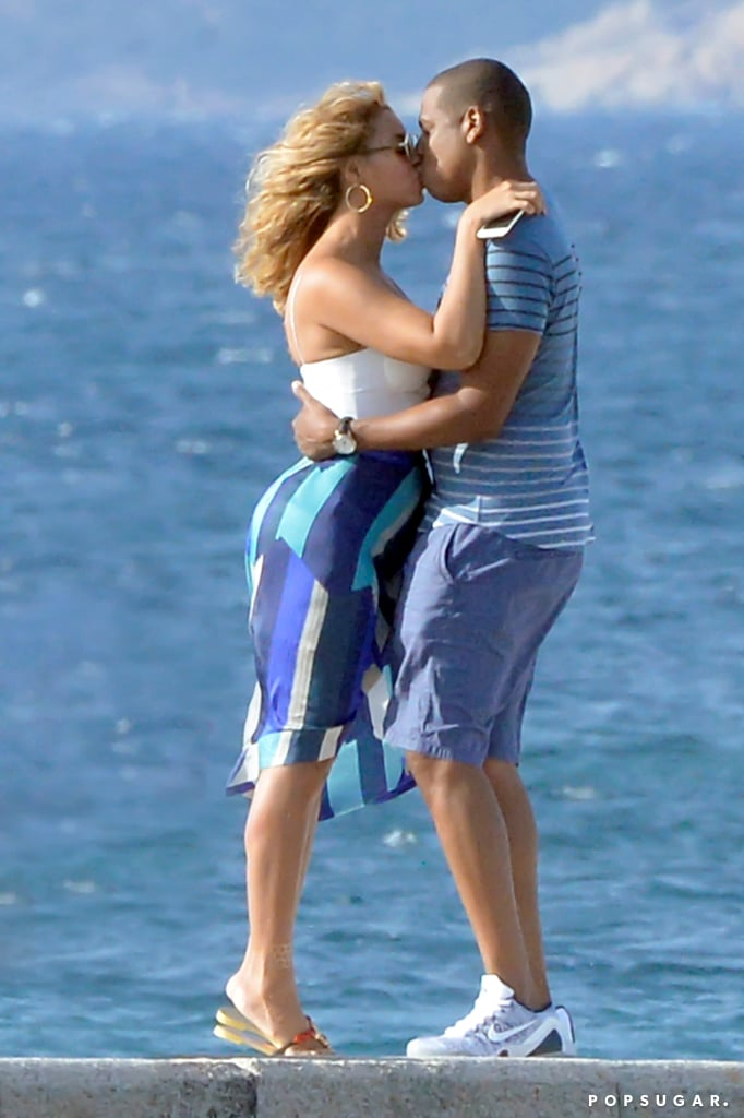 Beyoncé and Jay Z shared a kiss while taking a romantic stroll in Sardinia, Italy, in September 2015.