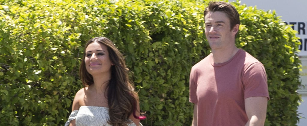 Lea Michele and Robert Buckley Have Never Looked Happier on the Set of Their New Show