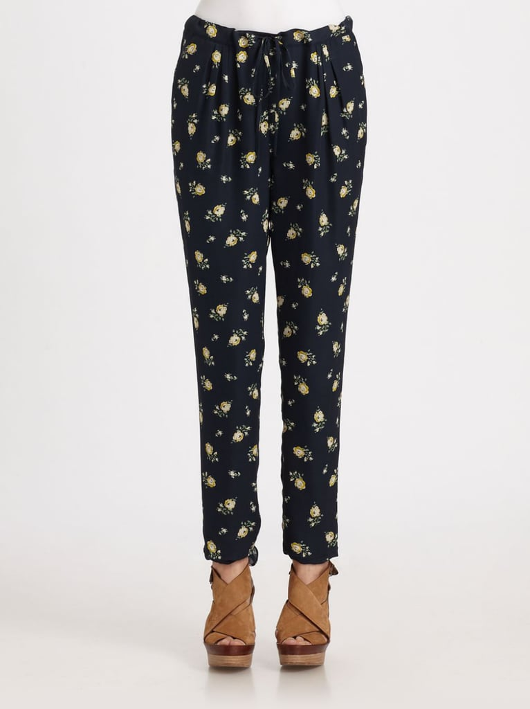 New to prints? Start simple, with a small floral on a dark background like this Girl. by Band of Outsiders pair ($385).