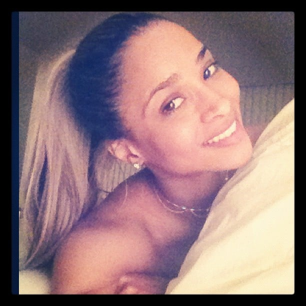 Ciara shared a fresh-faced pic before bed. Source: Instagram user ciara