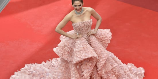 Woman Recreates Red Carpet Gown With Prawn Crackers, And It's Amazing