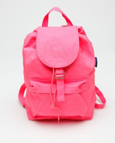 We like to stay hands-free — more room for dancing — during music festivals. Stash all of your necessities in this eye catching hot pink backpack.  Need Supply Co. Hot Pink Backpack ($37)