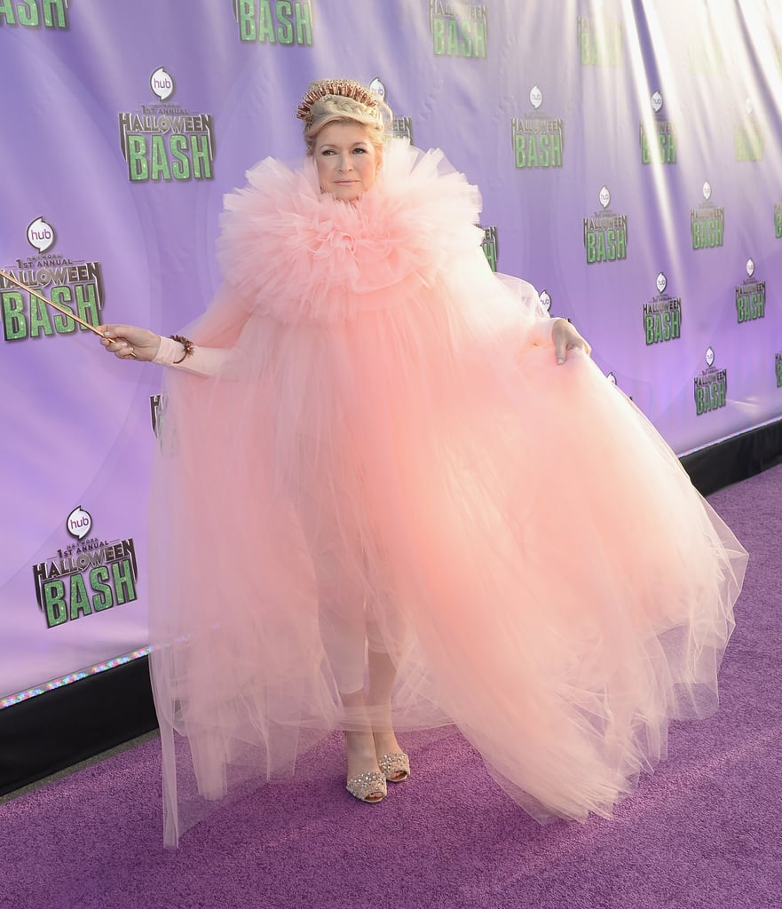 Martha Stewart attended the Hub Network's Halloween Bash in LA as Glinda the Good Witch.