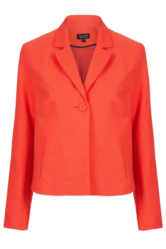 Pair Topshop's vibrant cropped swing jacket ($110) with a pencil skirt and pumps for a first-lady-approved work ensemble.
