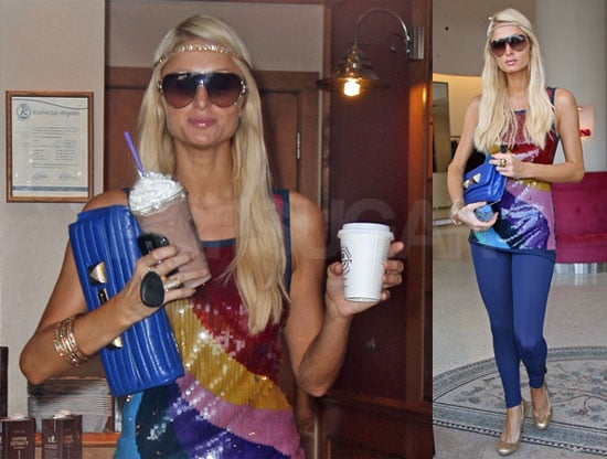Photos of Paris Hilton Shopping in LA