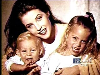 Lisa Marie with her children