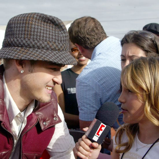 Jamie Lynn Spears had the honor of interviewing Justin Timberlake during the April 2003 Nickelodeon Kids' Choice Awards in LA.
