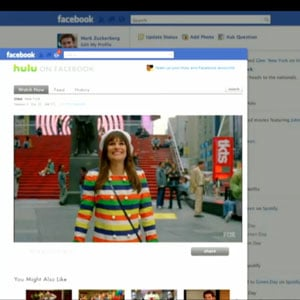 Hulu and Netflix Integration in Facebook