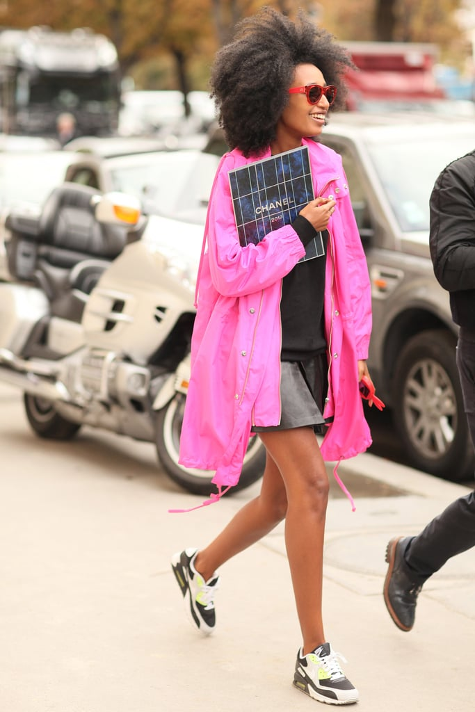 Julia Sarr-Jamois finished her cool-girl outfit with kicks just as worthy of the spotlight, albeit a bit more low key.