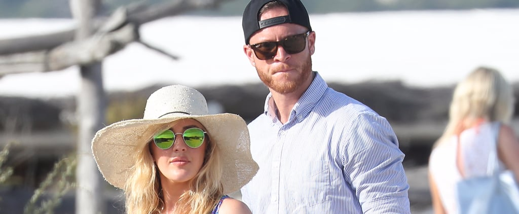 Ellie Goulding Chats It Up With a Mystery Man on the Beach in France