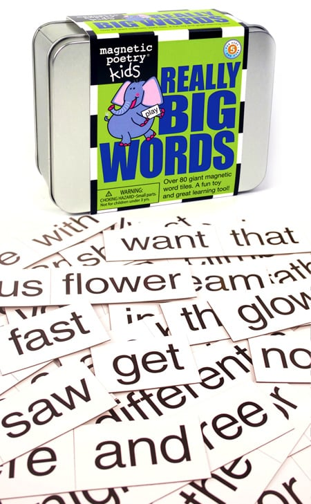 Inspire little wordsmiths with Really Big Words ($19, originally $20), a set of more than 80 magnetic word tiles perfect for refrigerator fun!