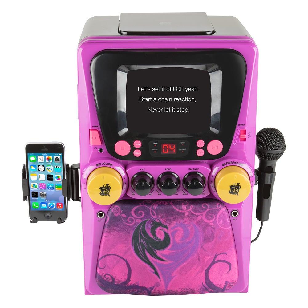 For 7-Year-Olds: Descendants CDG Karaoke Machine