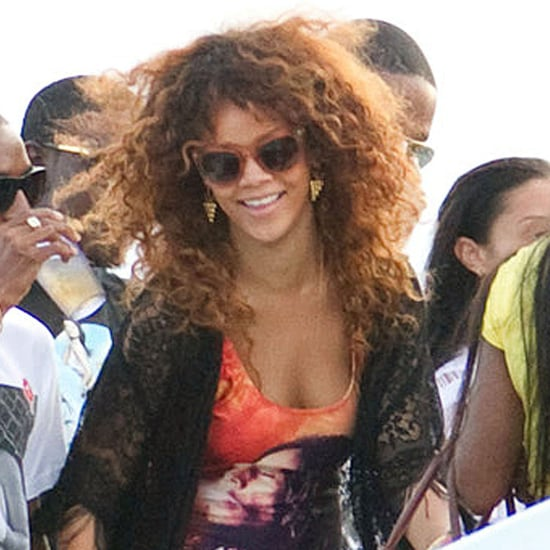 Rihanna in a Bob Marley Swimsuit Pictures