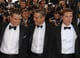 Matt Damon, George Clooney, and Brad Pitt posed on the Ocean's 13 red carpet in 2007.