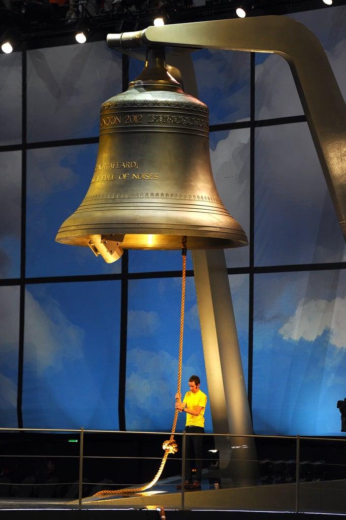 Bradley Wiggins, the first British winner of Tour De France race, rang the bell.
