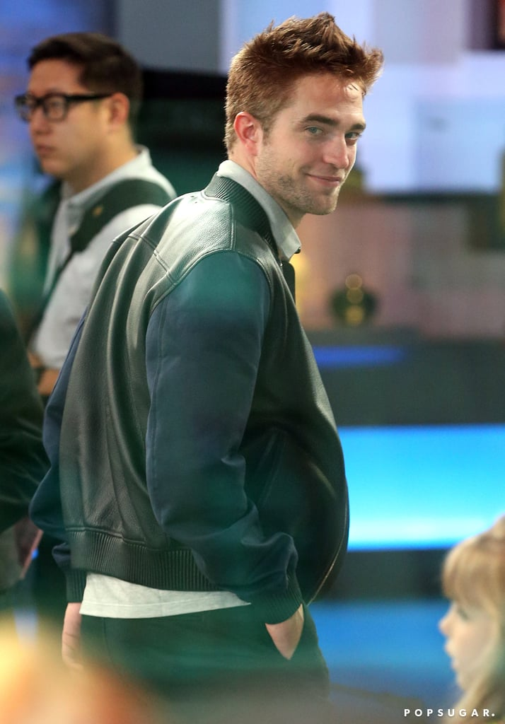 Robert Pattinson smirked before his appearance on Good Morning America on Tuesday in NYC.