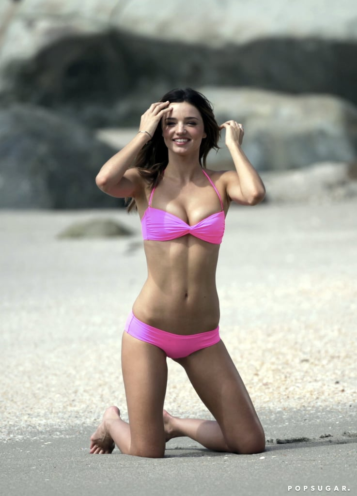 Play turned to work for Miranda in January 2010 in St. Barts on a Victoria's Secret photo shoot.