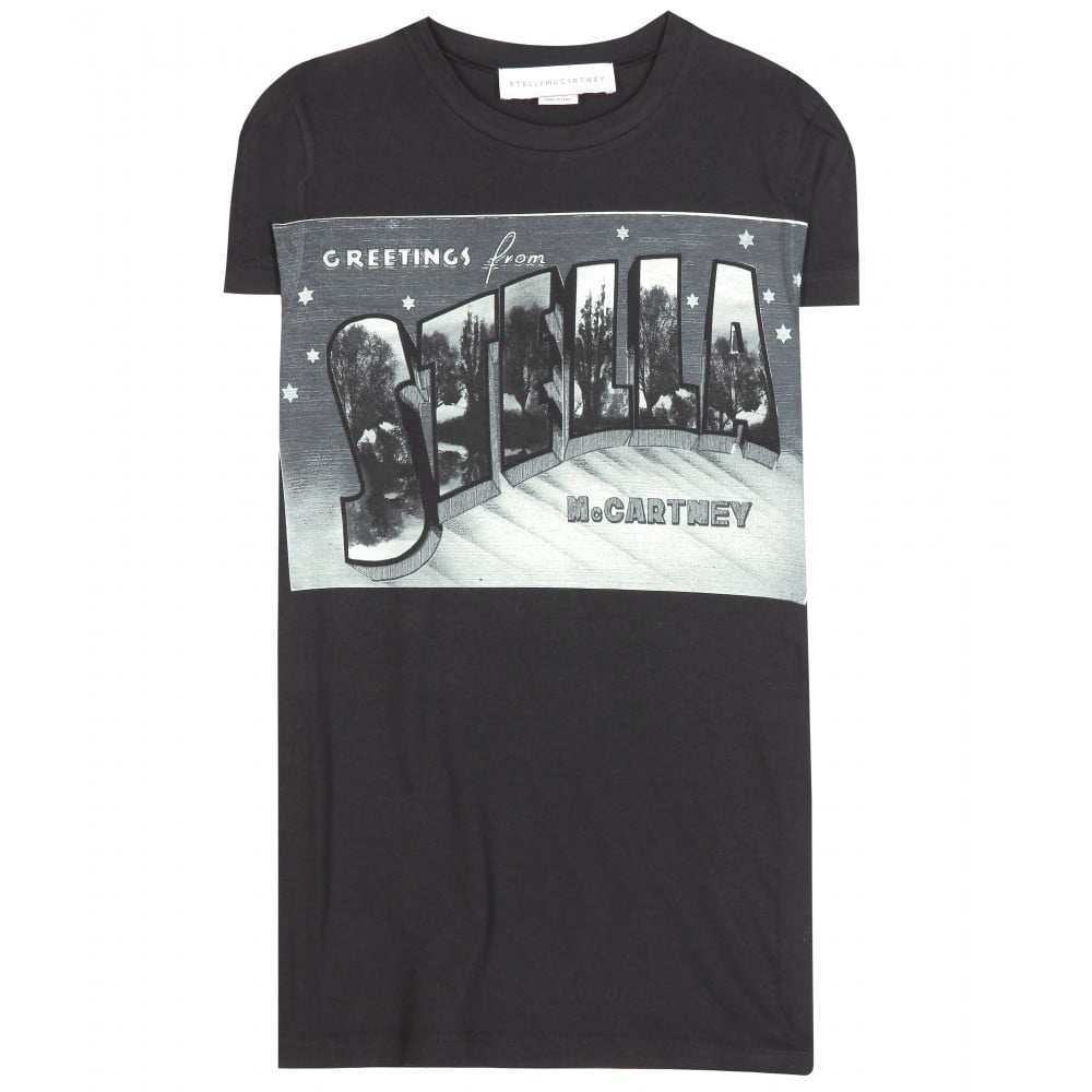 Stella McCartney Cotton and Silk Blend Printed T-Shirt