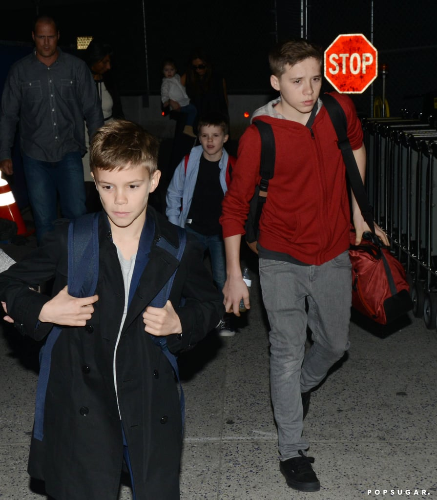 Victoria Beckham Brings Her Little Ones to the City of Angels