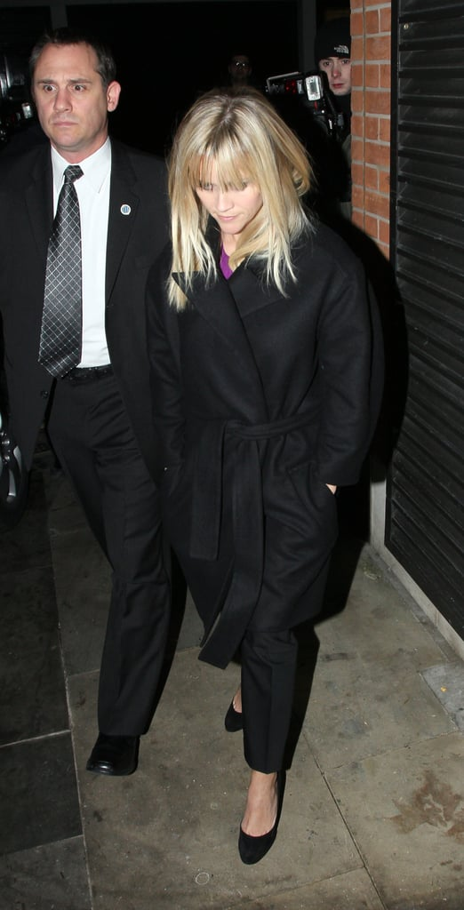 Reese Witherspoon out in London.