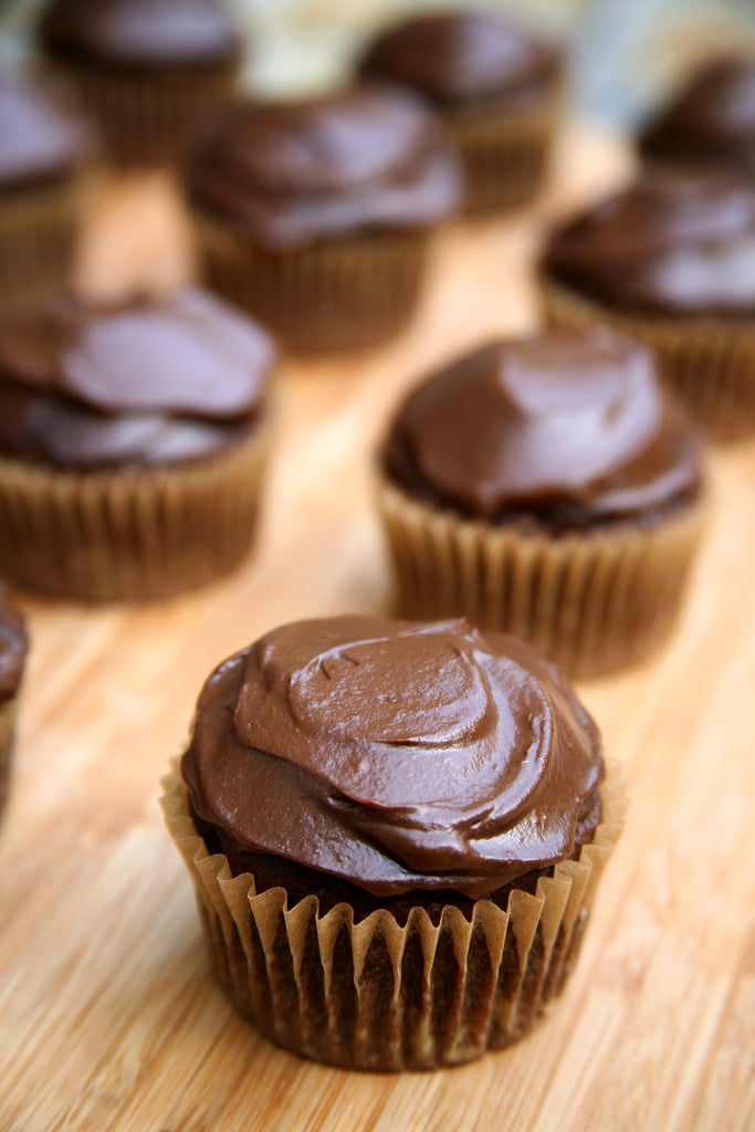 """Chocolate Cupcakes With """"Buttercream"""" Frosting"""