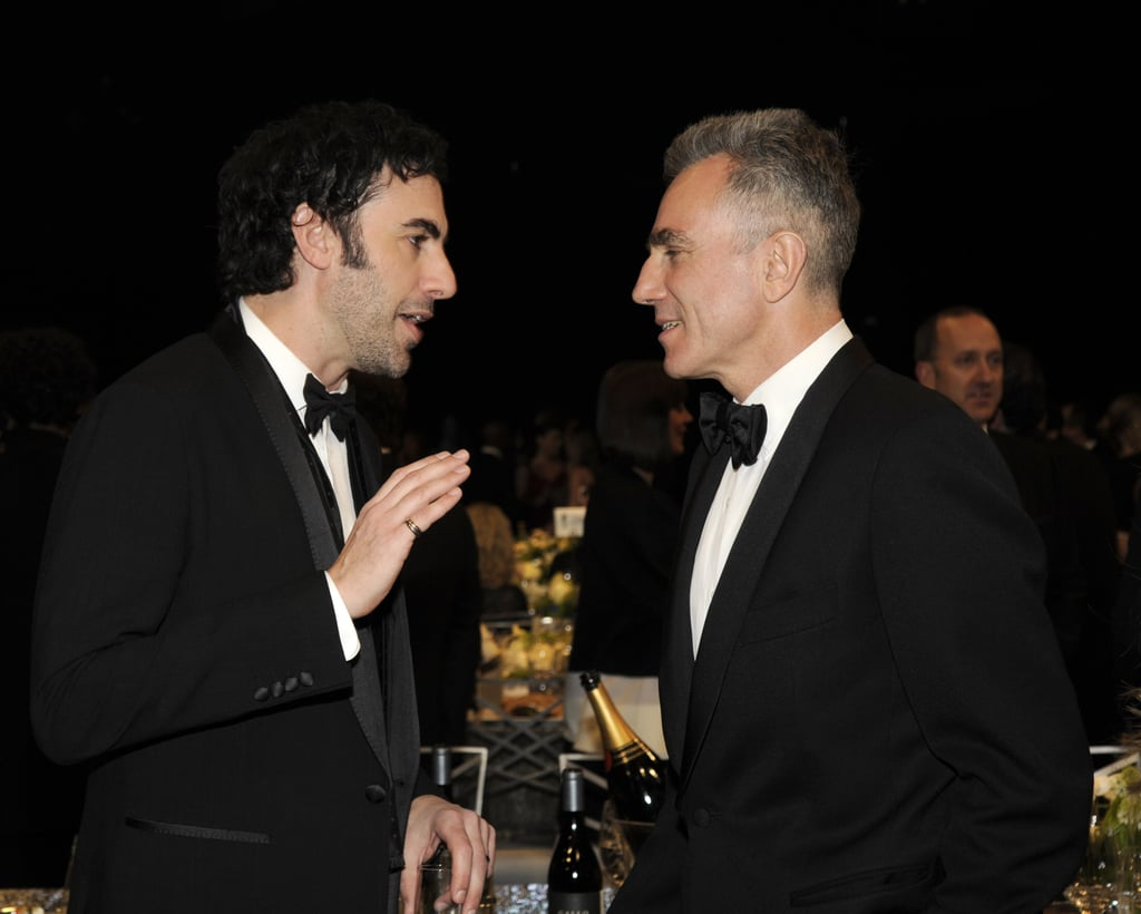 Sacha Baron Cohen talked it up with Daniel Day Lewis.