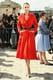 Leelee Sobieski in Red Dior Haute Couture Coat Dress