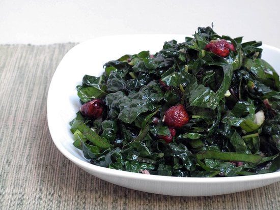 Kale and Chard Salad With Pomegranates and Hazelnuts