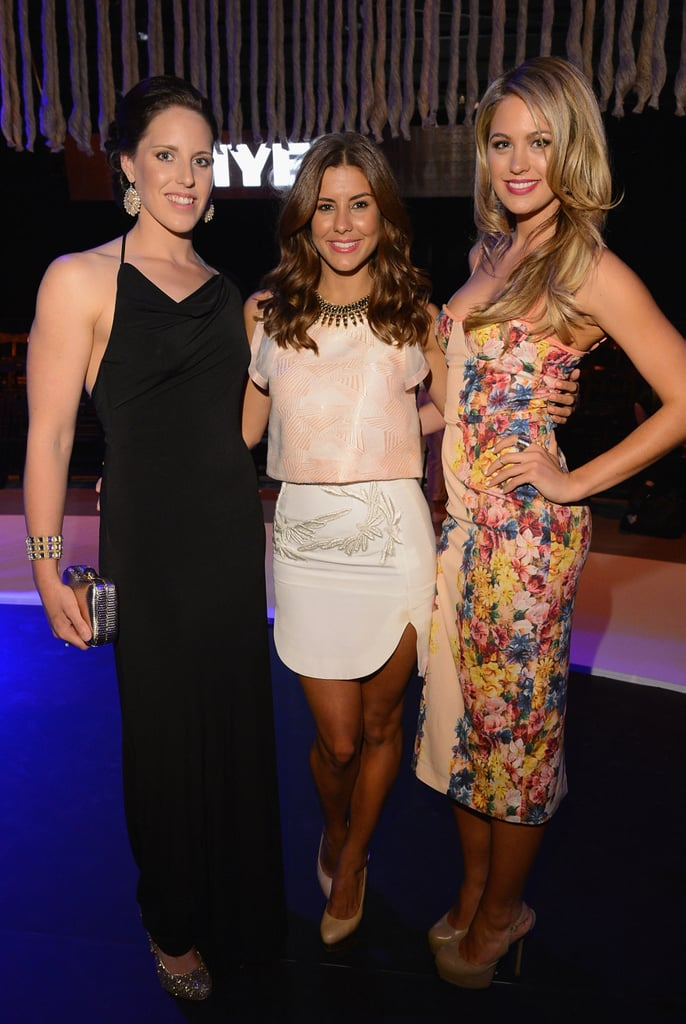 Alicia Coutts, Lauren Phillips and Jesinta Campbell