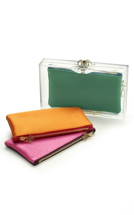 Pandora Clutch with Two Tone Inserts, $615
