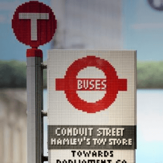 Lego Bus Stop in London
