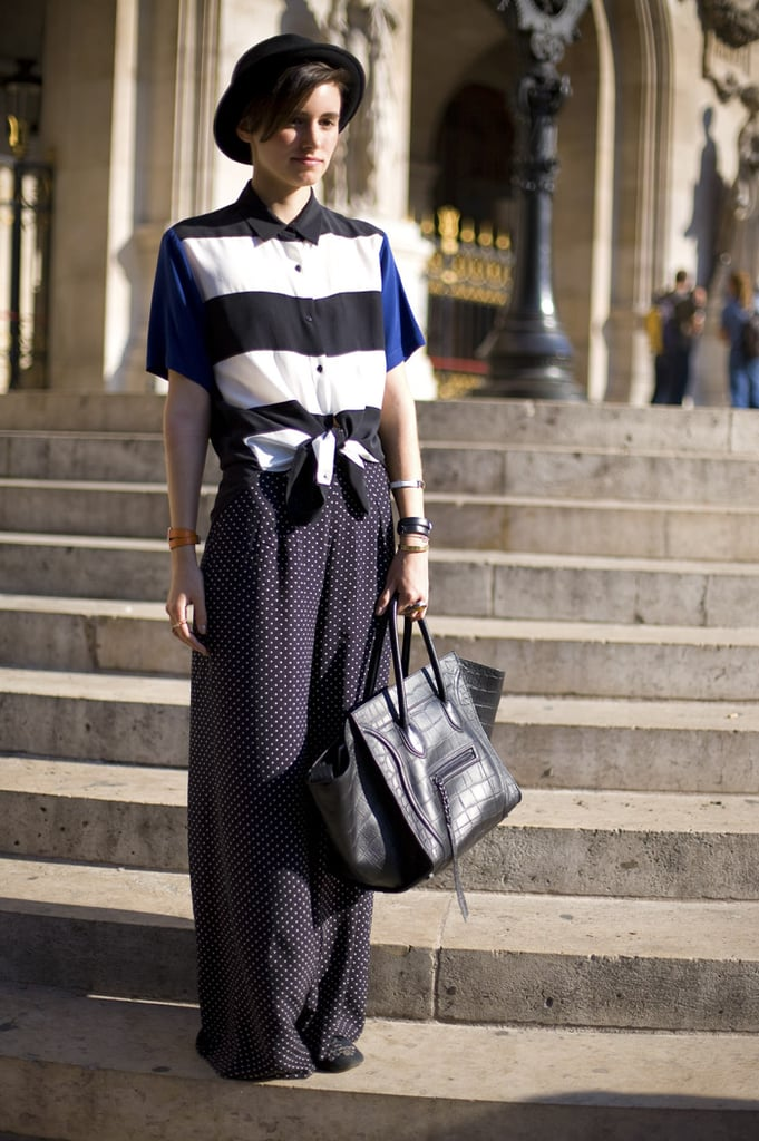 Mix up your black-and-white prints via stripes and polka dots. Photo courtesy of Phil Oh