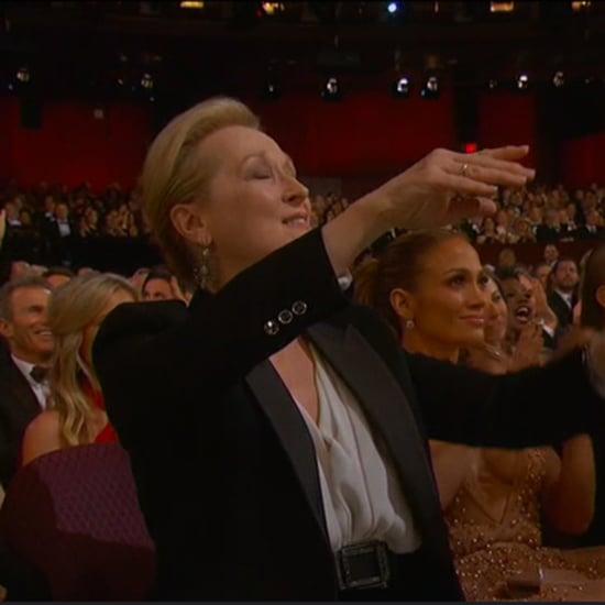 Meryl Streep Reaction to Patricia Arquette's Oscars Speech