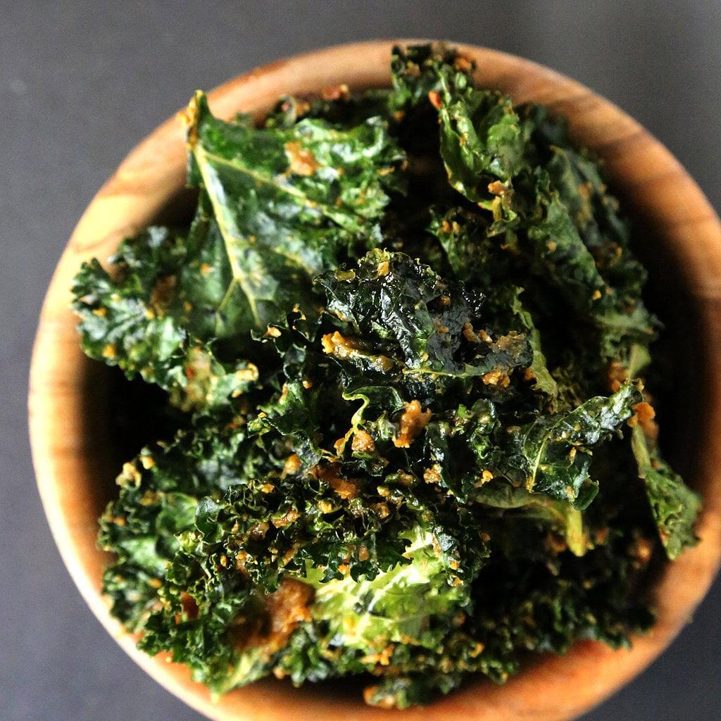 """Cheesy"" Vegan Kale Chips"
