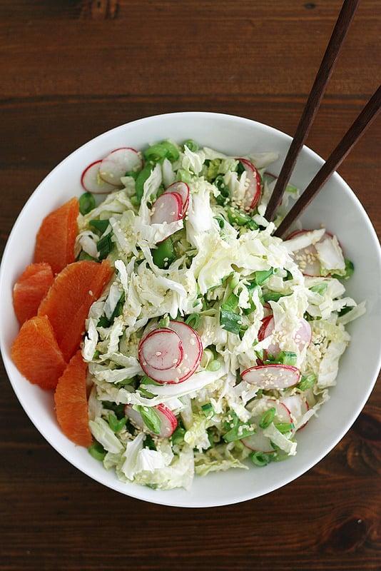 Sugar Snap Pea Salad With Miso Dressing