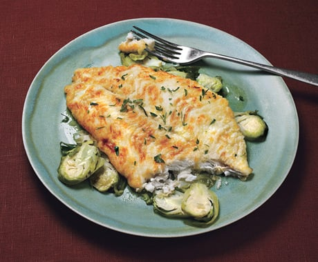 Fast, Easy Recipe for Sole with Lemon-Shallot Brussels Sprouts