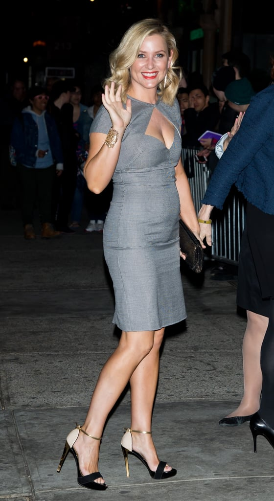 Jessica Capshaw wore a gray number.