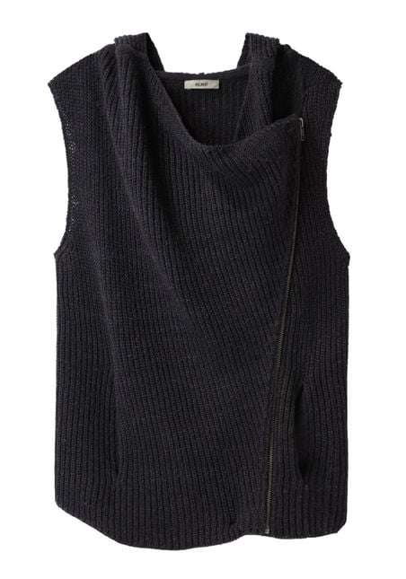 We can't wait to slip this cozy HELMUT Shell Wool Vest on over a fitted floral dress for a day at the office.