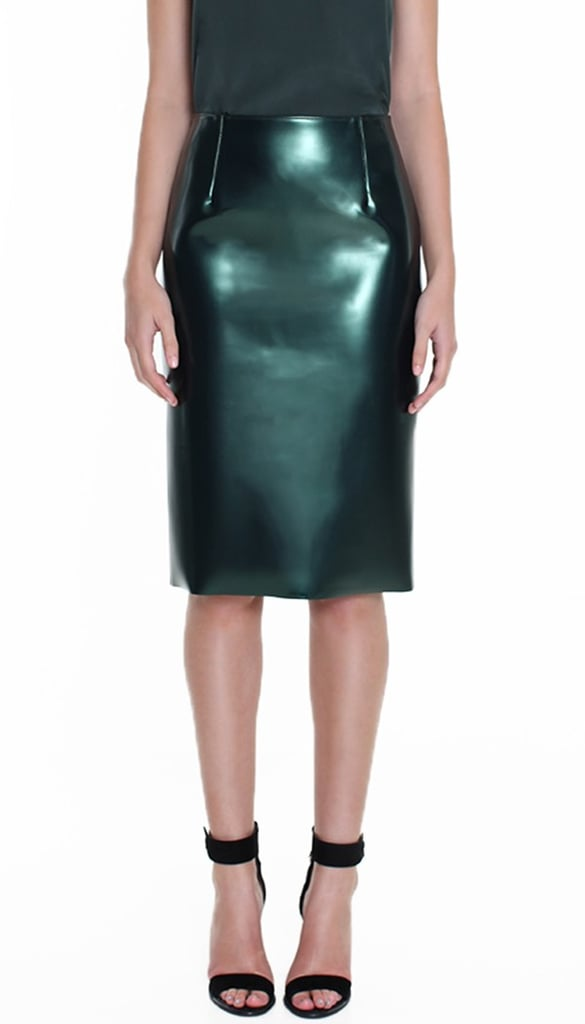 When I saw the fantastic emerald Tibi Bonded Skirt ($725) I was immediately transfixed! It's the perfect piece to breathe new life into my Winter basics. — Liza Kaplan, fashion and beauty producer