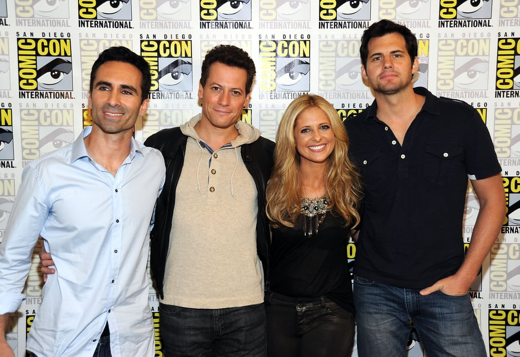 Sarah Michelle Gellar was joined by her Ringer castmates at Comic Con in San Diego yesterday.