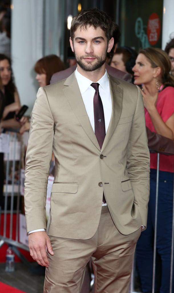 Chace Crawford walked the red carpet at the What to Expect When You're Expecting premiere in London.