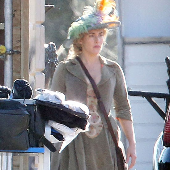 Kate Winslet on the Set of A Little Chaos