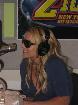 Britney Spears Talks Womanizer on Z100 Radio Station in New York